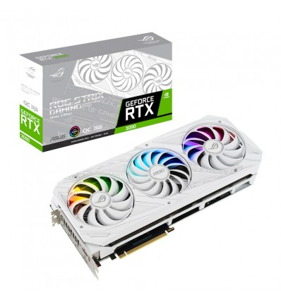 TARJETA GRAFICA ASUS ROG STRIX RTX3090 OC 24GB WHITE EDITION